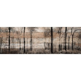 Parvez Taj - 'Panoramic Forest' Painting Print on Reclaimed Wood (3 options available)