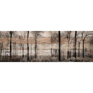 Parvez Taj - 'Panoramic Forest' Painting Print on Reclaimed Wood