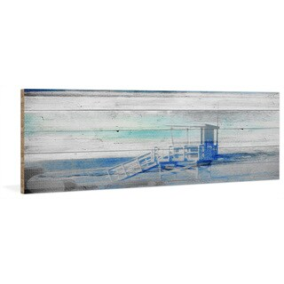 Parvez Taj - 'Guard House' Painting Print on Reclaimed Wood (3 options available)