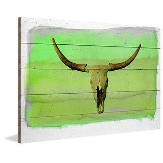 Handmade Parvez Taj - Cowboy 5 Print on Reclaimed Wood