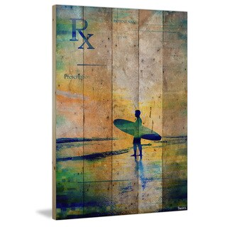Parvez Taj - 'RX Surf' Painting Print on Reclaimed Wood