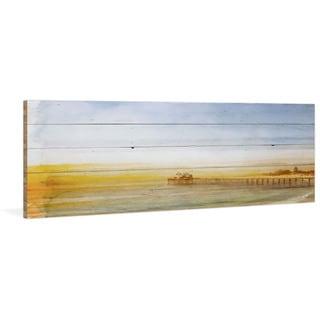 Handmade Parvez Taj - Malibu Pier Print on Reclaimed Wood
