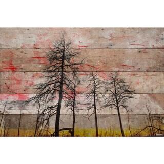 Handmade Parvez Taj - Tree Skeletons Print on Reclaimed Wood