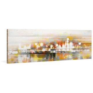 Parvez Taj - 'Hong Kong' Painting Print on Reclaimed Wood
