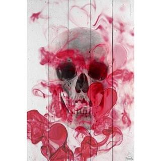 Handmade Parvez Taj - Skull 2 Print on Reclaimed Wood