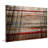 Parvez Taj - 'Tree Maze' Painting Print on Reclaimed Wood