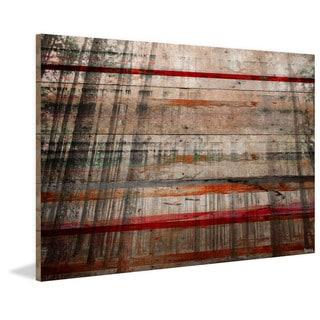 Handmade Parvez Taj - Tree Maze Print on Reclaimed Wood
