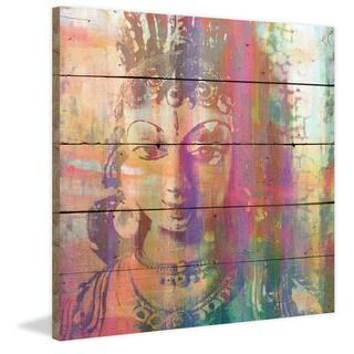 Handmade Parvez Taj - Limbdi Print on Reclaimed Wood