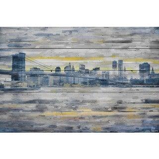 Parvez Taj - 'From Across the Water' Painting Print on Reclaimed Wood