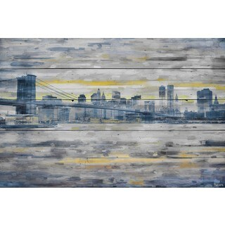 Parvez Taj - 'From Across the Water' Painting Print on Reclaimed Wood (4 options available)