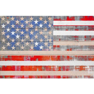 Parvez Taj - 'American Dream' Painting Print on Reclaimed Wood