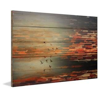 Parvez Taj - 'Night Flight' Painting Print on Reclaimed Wood
