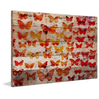 Handmade Parvez Taj - Cheerful Print on Reclaimed Wood