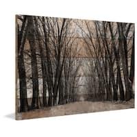 Parvez Taj - 'Tree Path' Painting Print on Reclaimed Wood