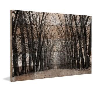 Handmade Parvez Taj - Tree Path Print on Reclaimed Wood