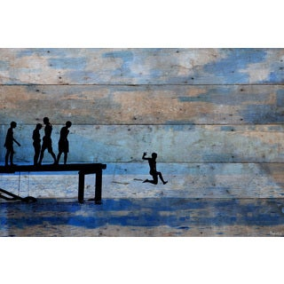 Parvez Taj - 'Feet First' Painting Print on Reclaimed Wood