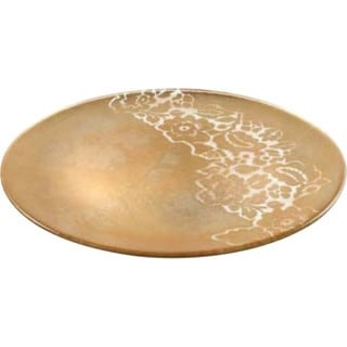 Majestic Gifts Hand-painted Gold Glass 6-inch D Plate