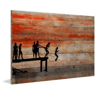 Parvez Taj - 'Caught Ya' Painting Print on Reclaimed Wood