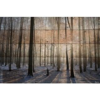 Parvez Taj - 'Papineau' Painting Print on Reclaimed Wood