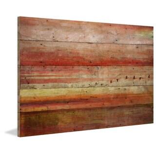 Parvez Taj - 'Flying South' Painting Print on Reclaimed Wood