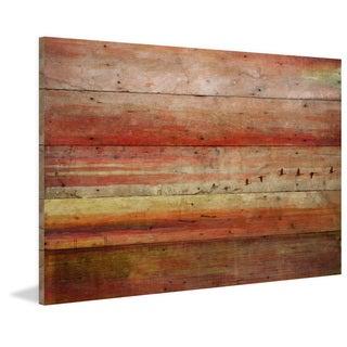 Handmade Parvez Taj - Flying South Print on Reclaimed Wood