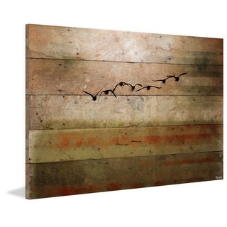 Parvez Taj - 'Sun Flight' Painting Print on Reclaimed Wood