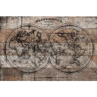 Parvez Taj - 'Mappe' Painting Print on Reclaimed Wood