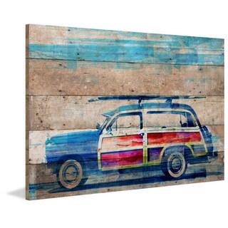 Parvez Taj - 'Surf Day' Painting Print on Reclaimed Wood