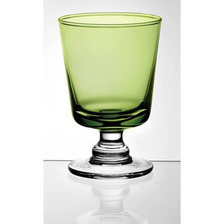 Majestic Gifts Green Glass Water Goblet (Set of 2)