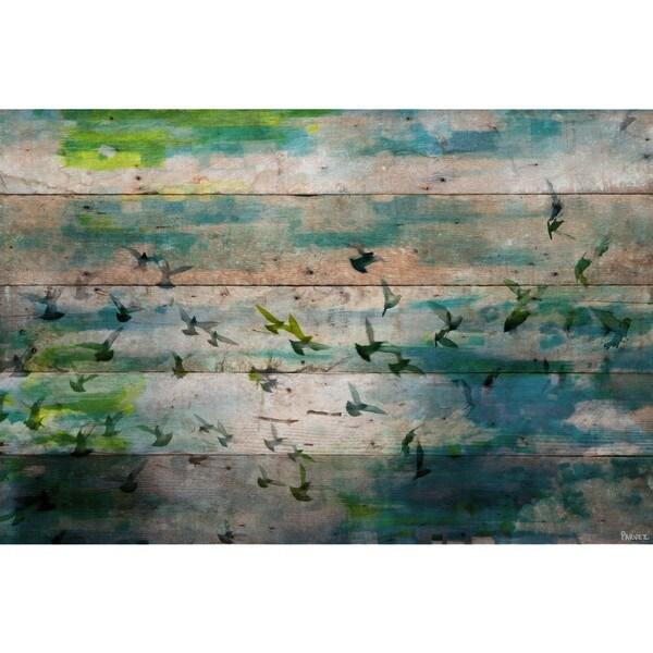Handmade Parvez Taj - Marsh Print on Reclaimed Wood