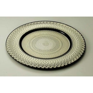 Majestic Gifts Gold-painted Glass 12.6-inch Charger Plate