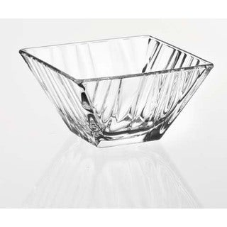Majestic Gifts Quality Clear Glass 7.9-inch x 7.9-inch Square Bowl