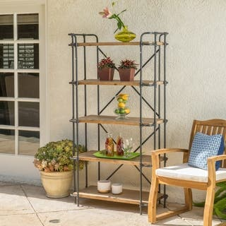 Yorktown Outdoor Antique Iron 5-Shelf Industrial Rack by Christopher Knight Home|https://ak1.ostkcdn.com/images/products/13623661/P20294262.jpg?impolicy=medium