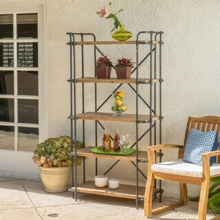Yorktown Outdoor Antique Iron 5-Shelf Industrial Rack by Christopher Knight Home