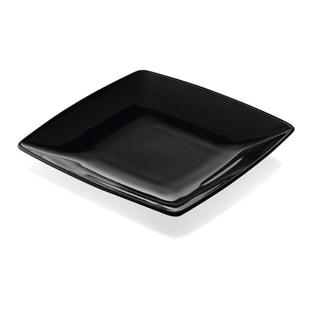 Majestic Gifts Quality Black Glass 6-inch x 6-inch Plates