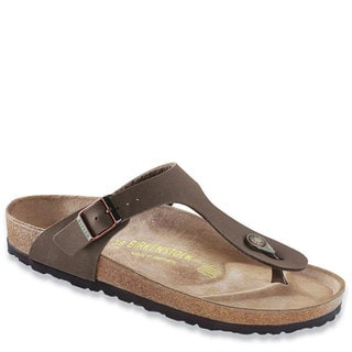 Birkenstock Women's Gizeh Birkibuc Brown Suede Sandals