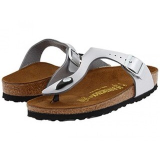 Birkenstock Women's Gizeh Birko-Flor Silvertone Suede Thong Sandals|https://ak1.ostkcdn.com/images/products/13623718/P20294232.jpg?_ostk_perf_=percv&impolicy=medium