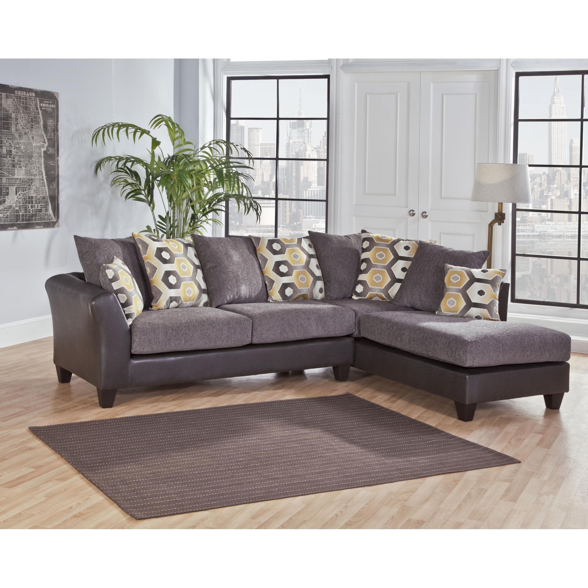Sofa Trendz Danny Grey Two Tone Sectional (Danny Grey Two...