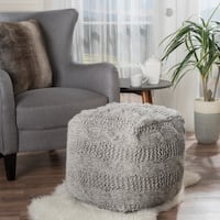 Christopher Knight Home Oslo Square Fabric Ottoman Pouf