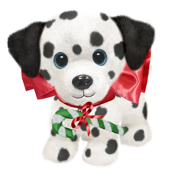 "Dog 7"" Christmas Plush Wuffles Dalmatian"