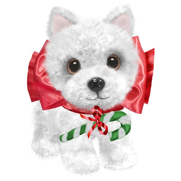 "Dog 7"" Christmas Plush Wuffles Westie"