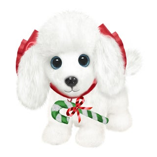 "Dog 7"" Christmas Plush Wuffles Poodle"