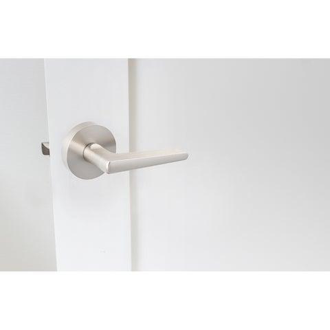 Sure-Loc Basel Satin Nickel Round Lever Door Handle