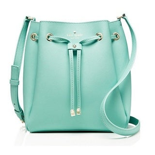 Kate Spade New York Cape Drive Harriet Soft Aqua/Mint Splash Drawstring Handbag