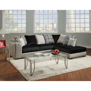 Sofa Trendz Diego Shimmer Silver Two Tone Sectional  sc 1 st  Overstock.com : two tone sectional - Sectionals, Sofas & Couches