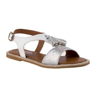 Nanette Lepore Girls' White Faux Leather Sandals