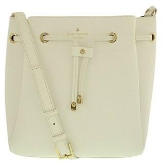 Kate Spade New York Cape Drive Harriet Bright White/Porcelain Drawstring Handbag