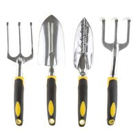 Pure Garden 4 Piece Garden Tool Set with Comfort Grip Handles