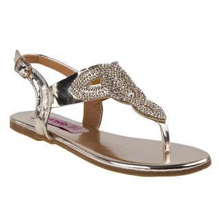 Kensie Girl Girls' Rhinestone Thong Sandal