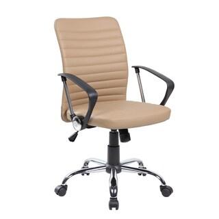 Black/Beige PU/PVC Mid-back Modern Ergonomic Computer Chair